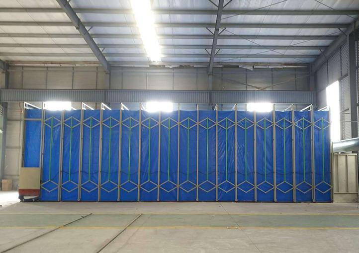 移动伸缩喷漆房方案L6000×W4500×H2800